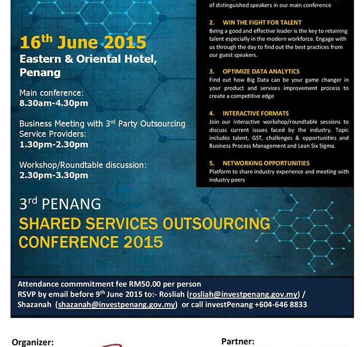 3rd Penang Shared Services Outsourcing Conference 2015