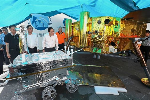 Rockets and spacecraft models on display at Tech Dome Penang in July