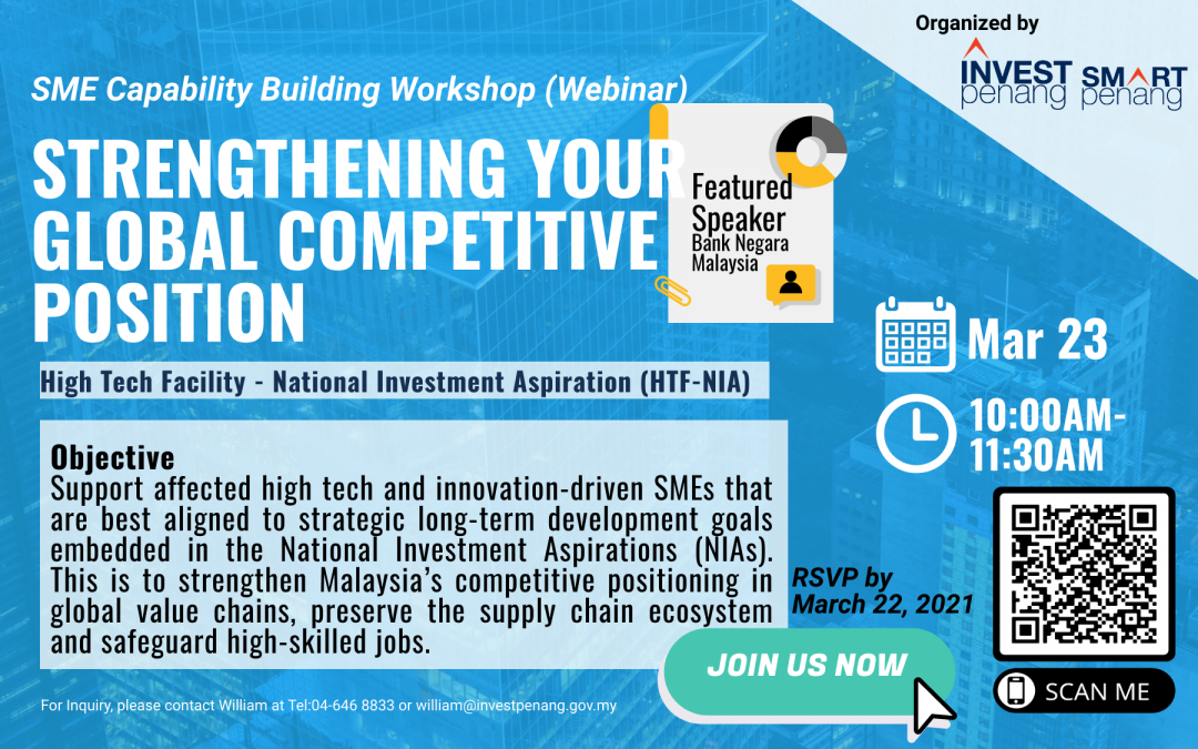 [Webinar] SMART Capability Building Workshop: Strengthening Your Global Competitive Position with Bank Negara Malaysia HTF-NIA