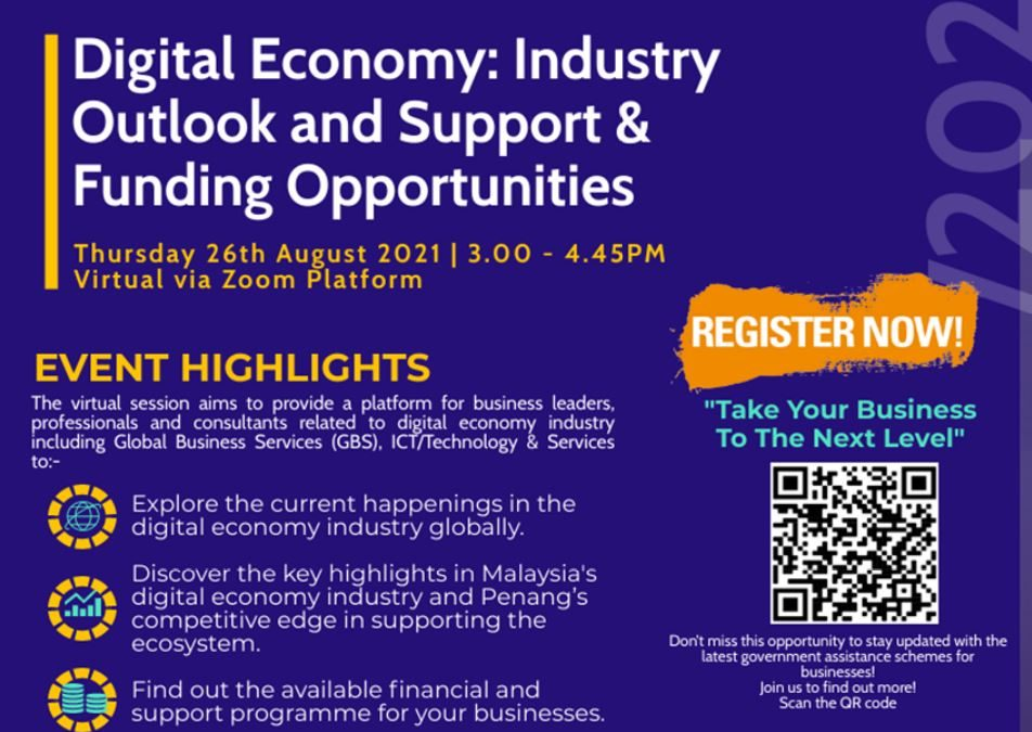 GBS 1.5 Talk Series #3 – Digital Economy: Industry Outlook and Support & Funding Opportunities